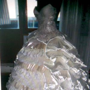 Продам свадебное платье бежевого цвета. Размер 44. Рост 160-170. Платье в